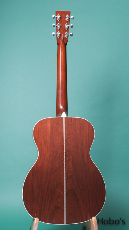 "MARTIN OM-28 Hide Glue Custom ""Adirondack / Madagascar""  BACK"