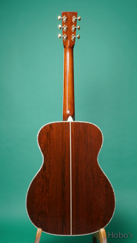 "MARTIN OOO-45 Hide Glue Custom ""Adirondack / Madagascar"" BACK"