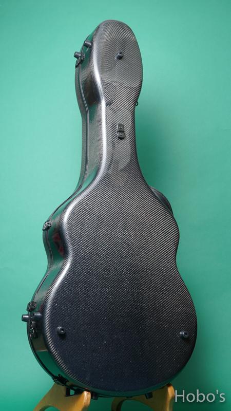 Hoffee Carbon Fiber Case D Black / Green D-Ring BACK