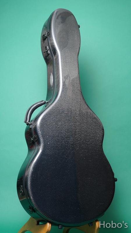 Hoffee Carbon Fiber Case D Black / Green D-Ring FRONT