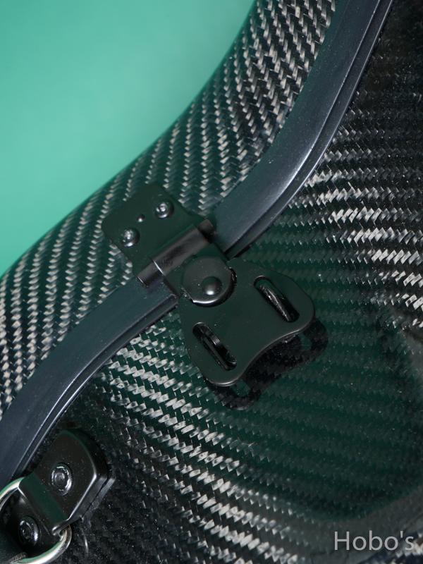 Hoffee Carbon Fiber Case D Black / Green D-Ring 4