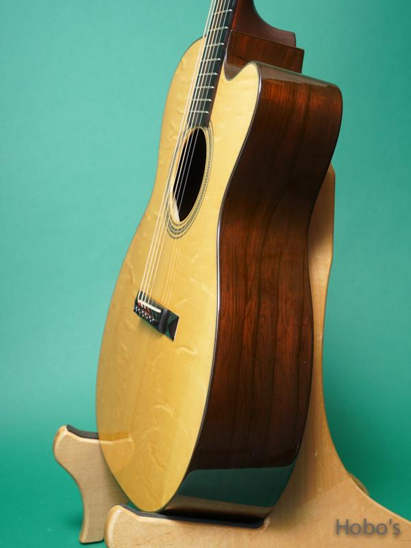"MERRILL (Jim Merrill) OM-21 Cutaway ""Premium Brazilian Rosewood""  8"