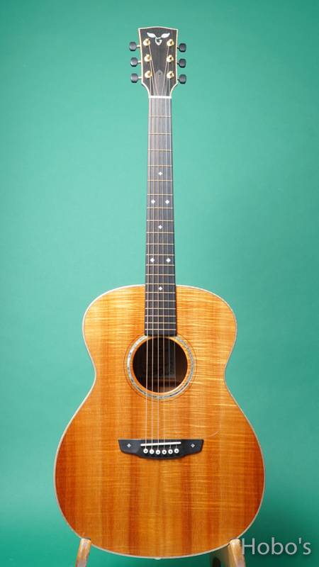"James Goodall KGCK ""AAAA Curry HawaiIan Koa""  FRONT"