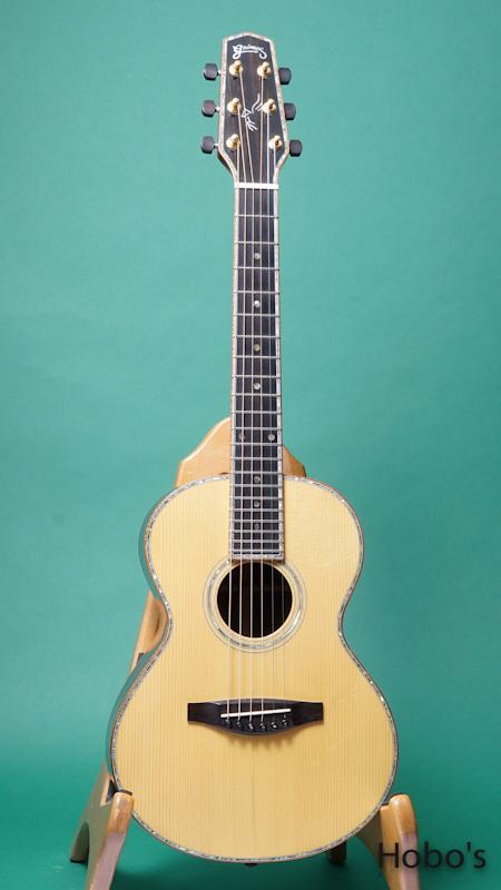 """Grimes Guitars (Steve Grimes) Parlor """"Brazilian Rosewood"""" FRONT"""