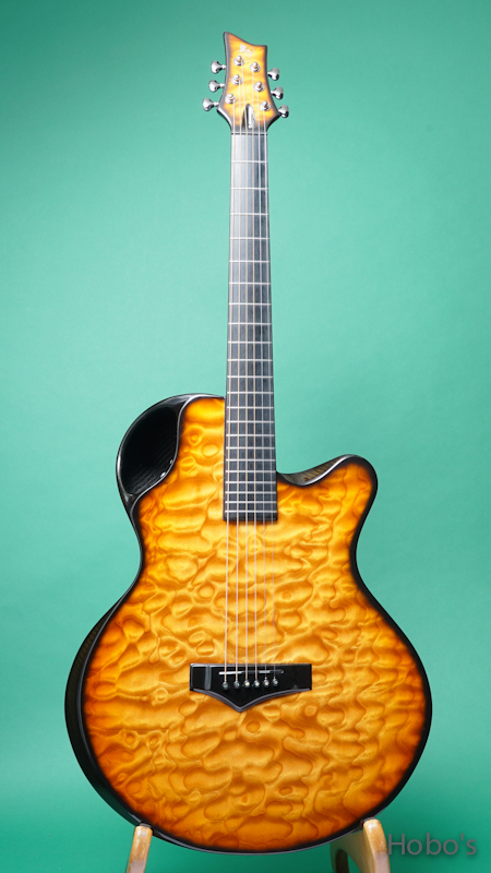 Emerald Guitars X30 Quilted Maple w/Element FRONT