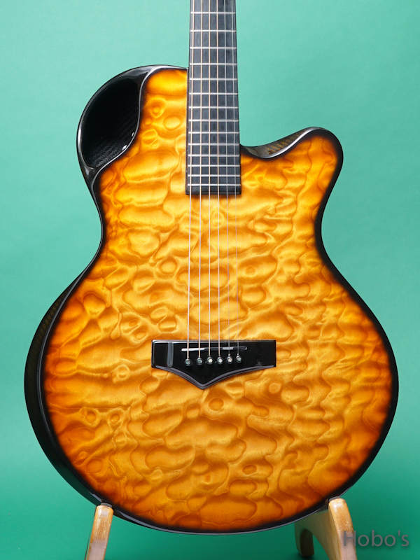 Emerald Guitars X30 Quilted Maple w/Element 5