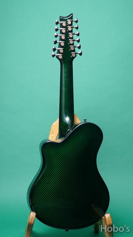 """Emerald Guitars Amicas Green """"坂崎幸之助セレクトモデル"""" BACK"""