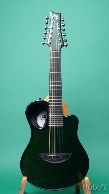 "Emerald Guitars Amicas Green ""坂崎幸之助セレクトモデル"" FRONT"