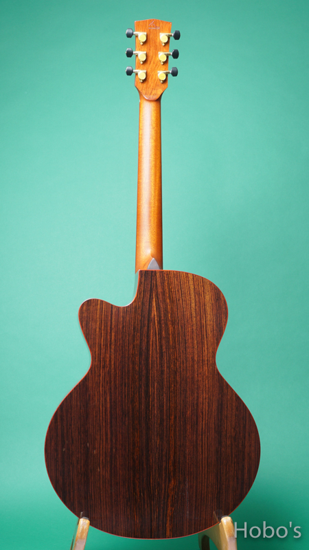 """AYERS SJ07-CX-NH """"AAA Sitka Spruce Top""""  BACK"""
