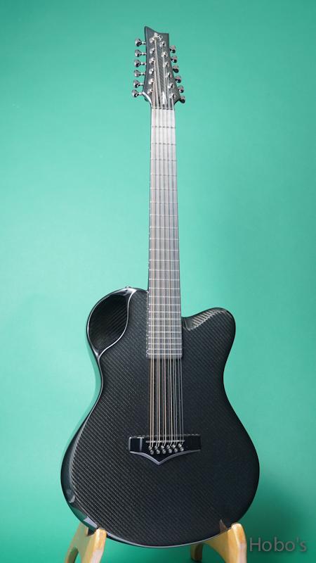"Emerald Guitars X20-12 Black w/Anthem ""12 Strings Guitar""  FRONT"