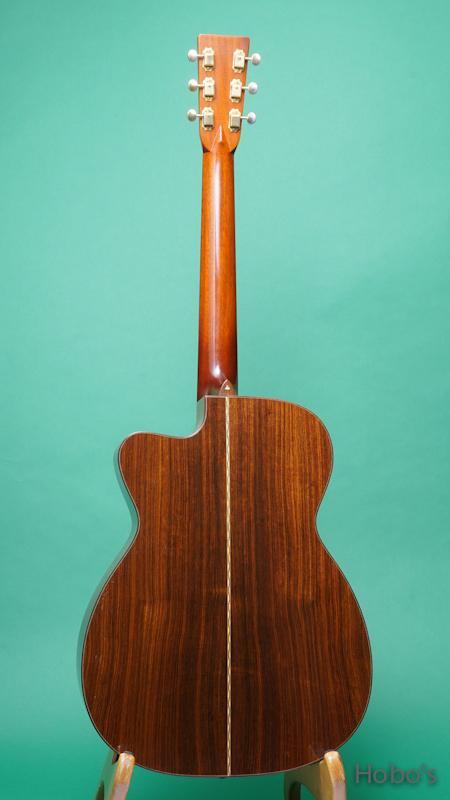 "Schoenberg Guitars (T.J. Thompson)  Soloist Cutaway ""Selected European Spruce""  BACK"