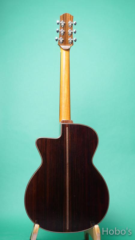 """Hayase Guitars (早瀬 輪) Rom-cw custom """"German / Indian Rosewood""""    BACK"""