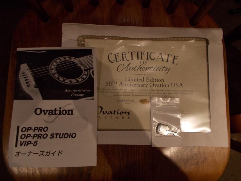 """OVATION Elite Custom 2078AV50-5 """"50th Anniversary""""     SPECIAL1"""