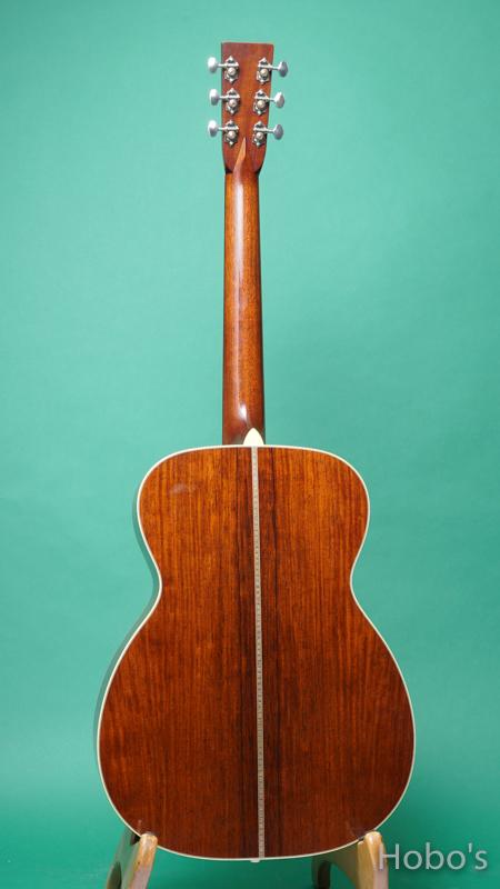 """Bourgeois OM Custom """"Adirondack / Madagascar Rosewood"""" BACK"""