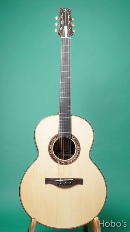 "Hayase Guitars (早瀬 輪) N-gothic ""German / African Blackwood""  FRONT"
