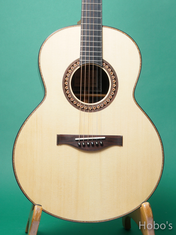 "Hayase Guitars (早瀬 輪) N-gothic ""German / African Blackwood""  5"